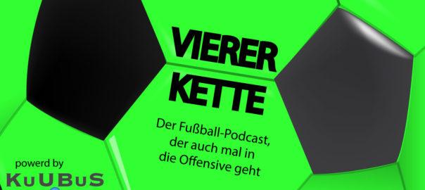 Bild mit Logo des Viererkette Podcast